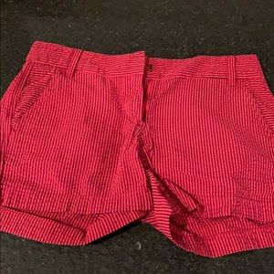 JCrew red and navy cotton shorts